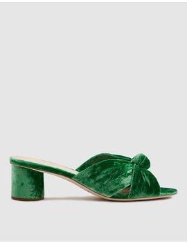 Celeste Mid Heel Knot In Emerald by Loeffler Randall