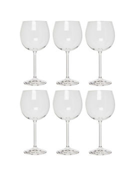 Six Pack Crystal Wine Glasses 570ml by Bohemia Selection
