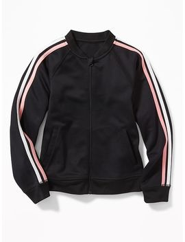 Retro Stripe Track Jacket For Girls by Old Navy