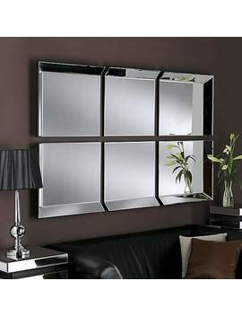 Byblos 6 Panel Wall Mirror by Dunelm