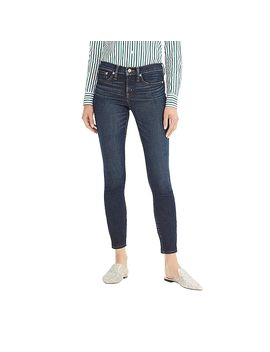 "Petite 8"" Toothpick Jean In Deep Worn Wash by J.Crew"