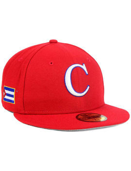 World Baseball Classic Team Cuba New Era 59 Fifty Fitted Wbc On Field Red Hat Nwt by Ebay Seller