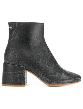 Cracked Detail Boots by Mm6 Maison Margiela