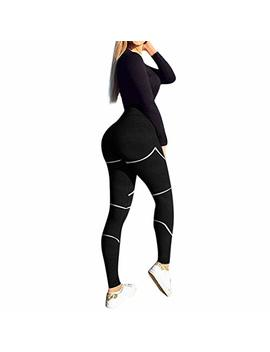 Mikey Store Women Fashion Leggings Solid Skinny Sports Pants by Mikey Store Women Clothing