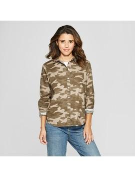 Women's Long Sleeve Camden Button Down Camo Shirt  Universal Thread™ Camo by Universal Thread™
