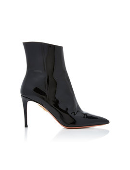 Alma Patent Leather Ankle Boots by Aquazzura