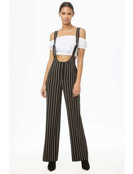 Striped D Ring Pinafore Jumpsuit by Forever 21