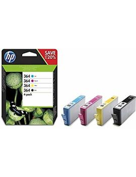 Hp 364 4 Pack Black/Cyan/Magenta/Yellow Original Ink Cartridges (N9 J73 Ae) by Hp