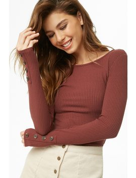 Ribbed Long Sleeve Top by Forever 21