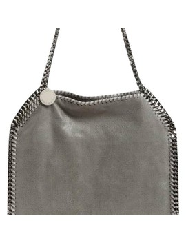 Falabella Tote Grey Logo Jacquard Lining Made From Recycled Water Bottles. Polyester. Shoulder Bag by Stella Mc Cartney