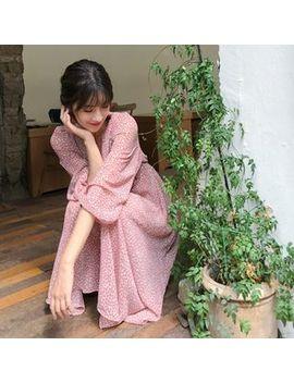 Mimi&Didi   Wrap Front Floral Midi Chiffon Dress by Mimi&Didi