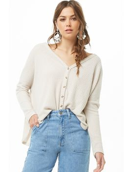 Brushed Waffle Knit Top by Forever 21