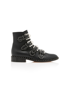 Studded Leather Ankle Boots by Givenchy