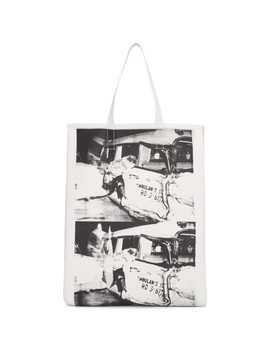 White Ambulance Disaster Soft Tote by Calvin Klein 205 W39 Nyc