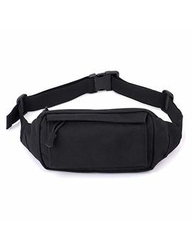 Fasmov Fanny Pack Men Women Waist Pack Bag With Adjustable Strap For Outdoors Workout Vacation Hiking, Black by Amazon