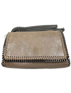 Mini Falabella Shaggy Deer Mini Tan Faux Leather Cross Body Bag by Stella Mc Cartney