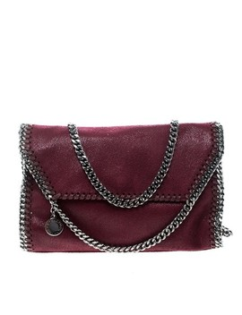 Falabella Burgundy Faux Leather Shoulder Bag by Stella Mc Cartney