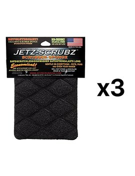The Original Magic Jetz Scrubz J27 Scrubber Sponge Rectangle, Pack Of 3 by Jetz Scrubz