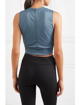 Cropped Twisted Dri Fit Tank by Nike