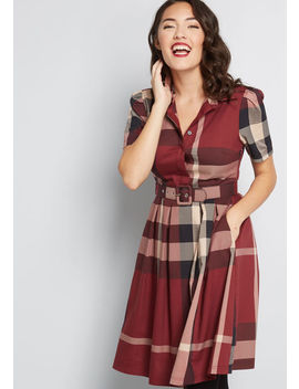 Set About Your Work Short Sleeve Dress by Modcloth