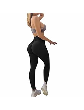 Sale Solid Yoga Pants,Women's Yoga Fitness Leggings Running Gym Stretch Sports Trousers By Newonesun by Newonesun Pant