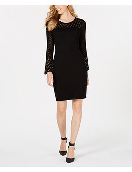 Petite Studded Sweater Dress by Calvin Klein