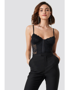Lace Cup Corset Black by Na Kd