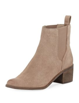 Carlie Suede Gore Chelsea Booties by Dolce Vita