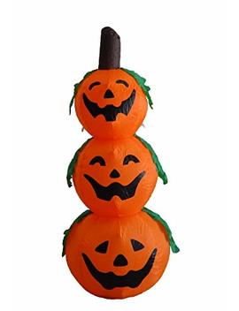 4 Foot Halloween Inflatable 3 Jack O Lanterns Yard Art Decoration by Bzb Goods