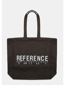Reference Print Tote Bag In Black. by Yang Li