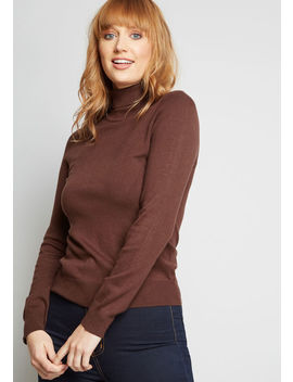 Charter School Turtleneck Sweater by Modcloth