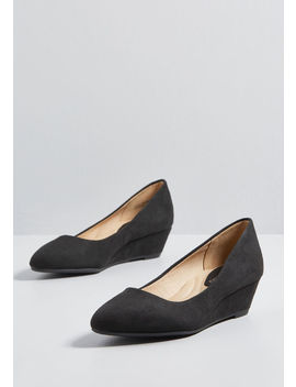 Comfortably Refined Wedge Heel by Modcloth