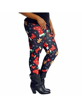 Women's Leggings Winter,Newonesun Sale Santa Claus Print Tighten Trousers Yoga Sport Casual Pants by Newonesun Pant