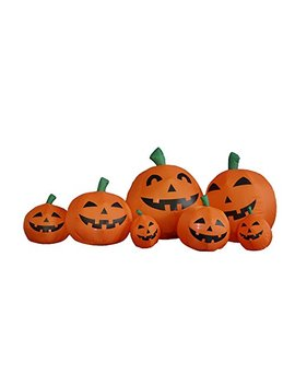 7.5 Foot Long Halloween Inflatable Pumpkins Yard Decoration by Bzb Goods