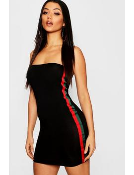 Retro Stripe Bandeau Dress by Boohoo