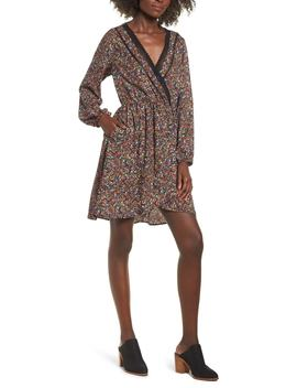 Floral Faux Wrap Dress by Band Of Gypsies