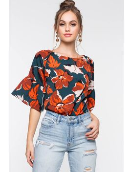 Fall Bloom Boxy Tee by A'gaci