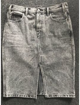 Levi's Grey Stonewashed Denim Skirt W30. by Ebay Seller