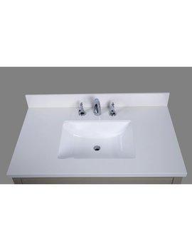 "Renaissance Vanity Thassos 37"" Single Bathroom Vanity Top & Reviews by Renaissance Vanity"