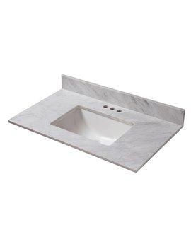 "Cahaba Marble 37"" Single Bathroom Vanity Top by Cahaba"
