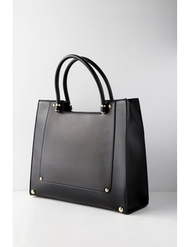 Alliana Black Tote by Lulus