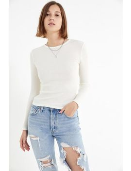 Uo Pipa Thermal Long Sleeve Top by Urban Outfitters