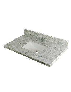 "Kingston Brass Carrara Marble 36"" Single Bathroom Vanity Top by Kingston Brass"