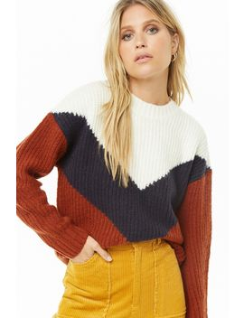 Ribbed Chevron Sweater by Forever 21