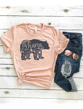 Mama Bear Shirt // Floral Mama Bear Shirt // Charcoal Ink // Mom Shirt // Mom Life // Gift For Mom by Etsy