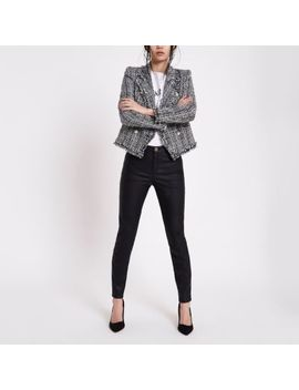 Black Faux Leather Molly Skinny Fit Pants by River Island