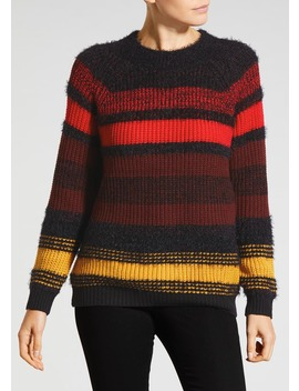 Fluffy Stripe Jumper by Matalan