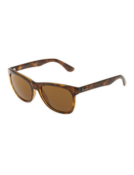 Rectangle Plastic Tortoiseshell Sunglasses by Ray Ban