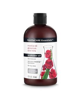 Apothe Care Essentials With Rosehip Geranium Aloe Vera In   Shower Oil   16 Fl Oz by Apothe Care Essentials