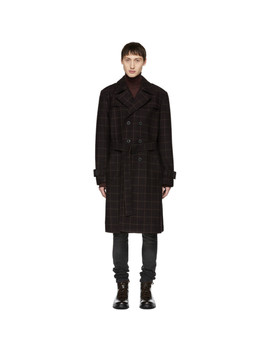 Burgundy Check Lennart Coat by Nudie Jeans